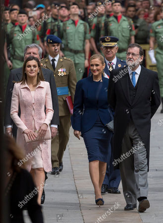 Queen Letizia Ortiz of Spain, Cristina Cifuentes, Mariano Rajoy