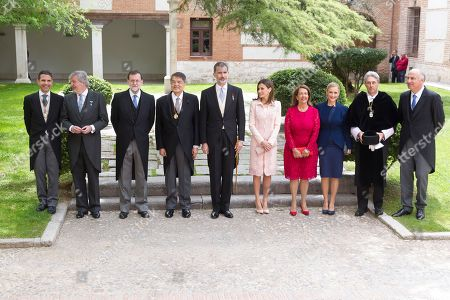 Editorial photo of Cervantes Awards ceremony, Alcala de Henares University, Spain - 23 Apr 2018