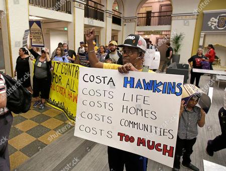 Editorial photo of California Housing Rent Control, Sacramento, USA - 23 Apr 2018