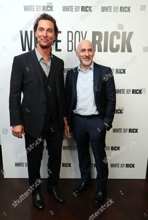 Matthew McConaughey and Jeffrey Robinov, producer, at the CinemaCon Photo Call for Columbia Pictures and Studio 8's WHITE BOY RICK #WhiteBoyRick