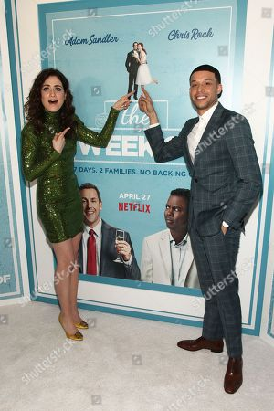 "Allison Strong, Roland Buck III. Allison Strong, left, and Roland Buck III, right, attend the premiere of Netflix's ""The Week Of"" at AMC Loews Lincoln Square, in New York"