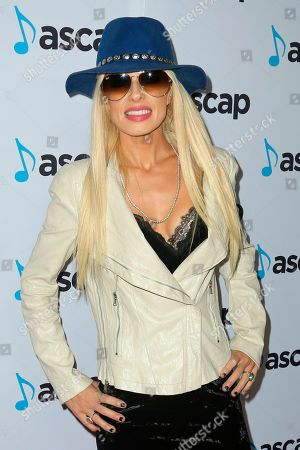 Orianthi arrives at the 2018 ASCAP Pop Music Awards at The Beverly Hilton, in Beverly Hills, Calif