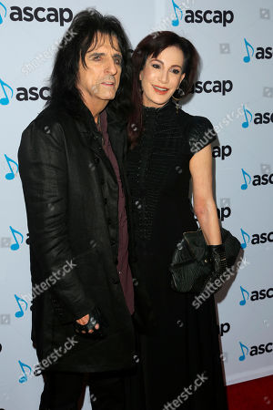 Alice Cooper, Sheryl Goddard. Alice Cooper, left, and Sheryl Goddard arrive at the 2018 ASCAP Pop Music Awards at The Beverly Hilton, in Beverly Hills, Calif