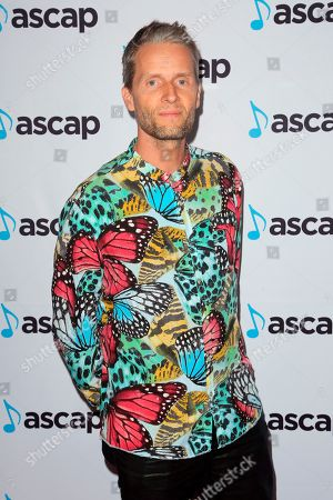 Stock Photo of Toby Gad arrives at the 2018 ASCAP Pop Music Awards at The Beverly Hilton, in Beverly Hills, Calif