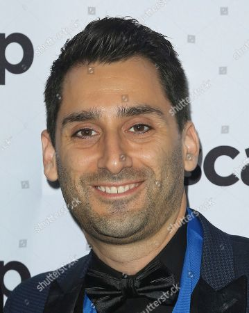 Stock Photo of Joe Khajadourian, The Futuristics. Joe Khajadourian member of The Futuristics arrives at the 2018 ASCAP Pop Music Awards at The Beverly Hilton, in Beverly Hills, Calif