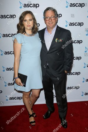 Stock Photo of Tony Scalzo, right, and guest arrive at the 2018 ASCAP Pop Music Awards at The Beverly Hilton, in Beverly Hills, Calif