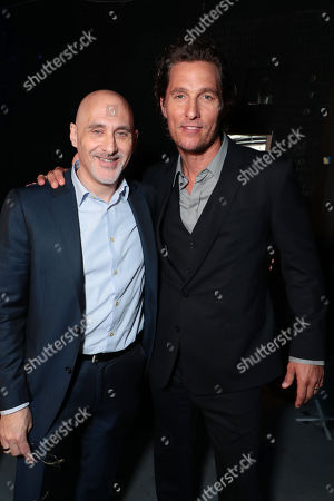 Jeffrey Robinov, producer, and Matthew McConaughey at Sony Pictures Entertainment's CinemaCon Presentation