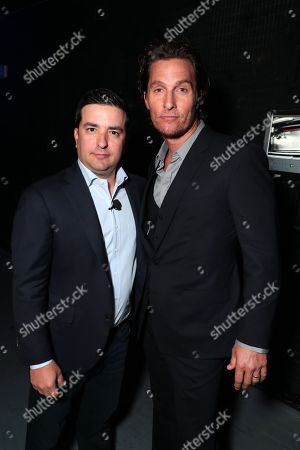 Josh Greenstein, President, Sony Pictures Worldwide Marketing & Distribution, and Matthew McConaughey at Sony Pictures Entertainment's CinemaCon Presentation