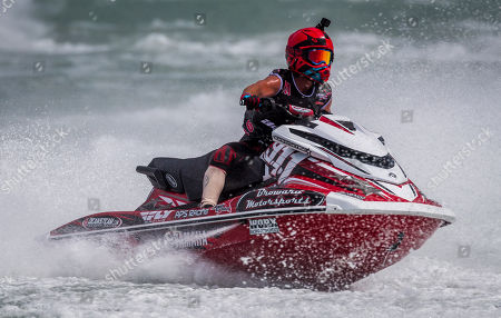 Eric Francis (911) competes in the AquaX P1 Enduro Pro category during the Miami Grand Prix P1 Pro Racing event held at the Miami Marine Stadium of Key Biscayne, Florida, USA