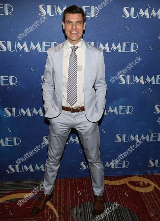 "Stock Photo of  Aaron Krohn attends the opening night of ""Summer: The Donna Summer Musical"" party at the The New York Marriot Marquis Hotel, in New York"