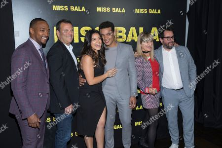 Anthony Mackie, Kevin Misher, Gina Rodriguez, Ismael Cruz Cordova, Catherine Hardwicke and Pablo Cruz. Anthony Mackie, left, Kevin Misher, Gina Rodriguez, Ismael Cruz Cordova, Catherine Hardwicke and Pablo Cruz attend CinemaCon at The Colosseum at Caesars in Las Vegas, Nevada
