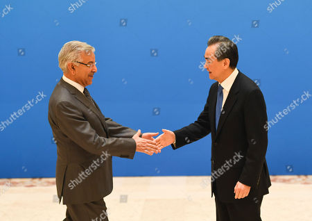 Stock Photo of Khawaja Muhammad Asif and Wang Yi