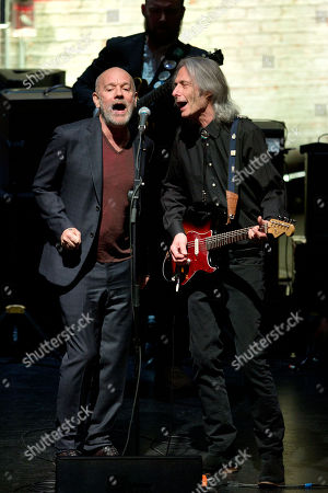 Michael Stipe and Lenny Kaye