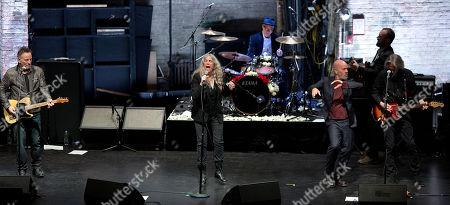 Bruce Springsteen, Patti Smith, Michael Stipe and Lenny Kaye