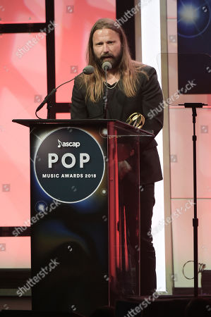 Max Martin speaks during 2018 ASCAP Pop Music Awards at the Beverly Hilton Hotel, in Beverly Hills, Calif