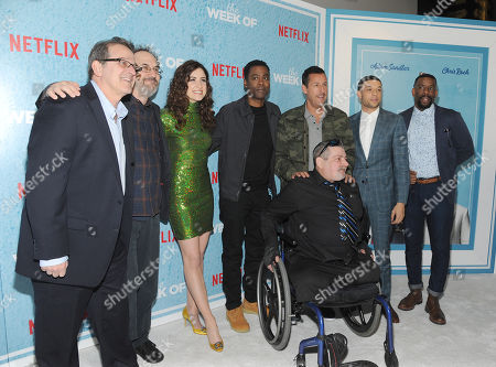 Allen Covert, Robert Smigel, Allison Strong, Chris Rock, Adam Sandler, Roland Buck III, Chuck Nice and Jim Barone