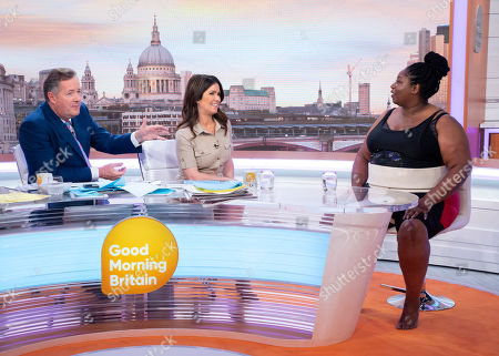 Piers Morgan and Susanna Reid with Sharran Alexander