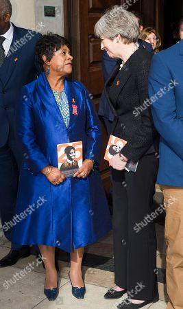 Doreen Lawrence with Theresa May