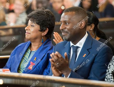 Doreen Lawrence and son Stuart.