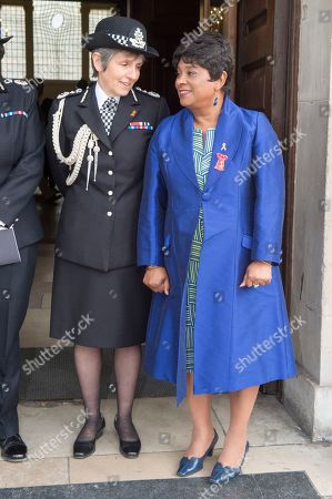Doreen Lawrence with Police commissioner Cressida Dick.