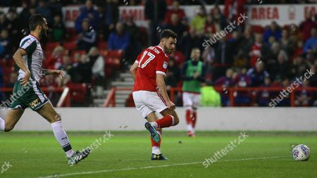 Ben Brereton taps home into an empty net after rounding Barnsley keeper Jack Walton
