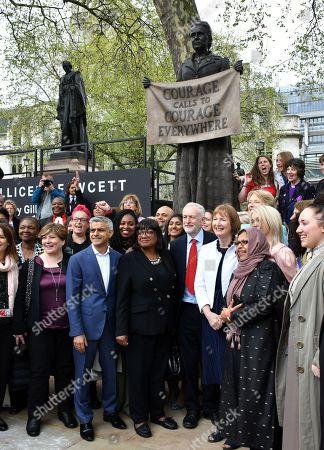 Sadiq Khan, Diane Abbott, Jeremy Corbyn, Harriet Harman