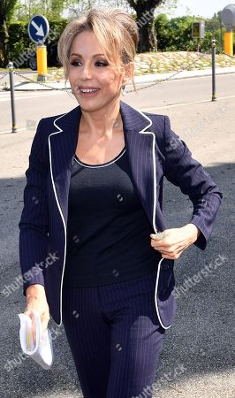 Stock Image of Marina Berlusconi, chairwoman of Fininvest Holding and Arnoldo Mondadori Editore Group, poses for photographer at the Mondadori's shareholders' meeting in Milan, Italy, 24 April 2018. Italy's biggest publishing company Mondadori reported a plus of 35 percent in net profit to 30.4 million euro for the financial yer 2017.