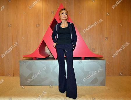 Stock Photo of Marina Berlusconi, chairwoman of Fininvest Holding and Arnoldo Mondadori Editore Group, poses for photographer at the Mondadori's shareholders' meeting in Milan, Italy, 24 April 2018. Italy's biggest publishing company Mondadori reported a plus of 35 percent in net profit to 30.4 million euro for the financial yer 2017.