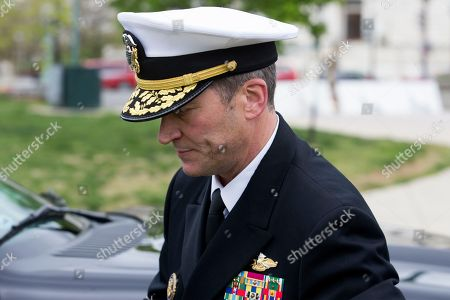 Editorial photo of US President Donald J. Trump's nominee to be Secretary of Veteran Affairs Ronny Jackson visits Capitol Hill, Washington, USA - 24 Apr 2018