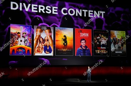 John Fithian, president and CEO of the National Association of Theatre Owners, discusses diversity in current films at CinemaCon 2018, the official convention of the National Association of Theatre Owners, at Caesars Palace, in Las Vegas