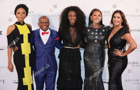 Bonang Matheba, Sello Hatang, Beverley Knight, Vanessa Williams and Maria Bravo