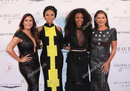 Maria Bravo, Bonang Matheba, Beverley Knight and Vanessa Williams