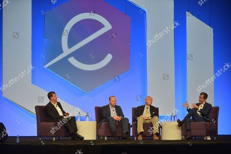 President Cyxtera Federal Group Gregory Touhill, Chief Information Security Officer Cyxtera Technologies Leo Taddeo, Executive Chairman Teneo Risk Bill Bratton and Co-President Teneo Intelligence Kevin Kajiwara attend eMerge Americas 2018 Cybercrime, Cyberwarfare, and Increased Security Threats: Protecting Our Nation and the Globe From Emerging Risks panel at Miami Beach Convention Center