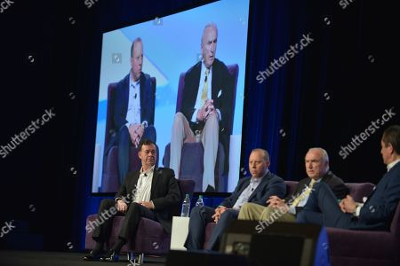 Stock Picture of President Cyxtera Federal Group Gregory Touhill, Chief Information Security Officer Cyxtera Technologies Leo Taddeo, Executive Chairman Teneo Risk Bill Bratton and Co-President Teneo Intelligence Kevin Kajiwara attend eMerge Americas 2018 Cybercrime, Cyberwarfare, and Increased Security Threats: Protecting Our Nation and the Globe From Emerging Risks panel at Miami Beach Convention Center