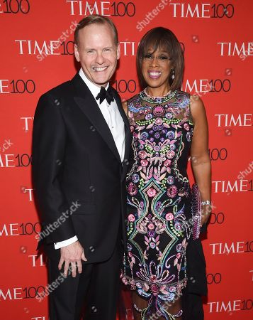 John Dickerson, Gayle King. John Dickerson and Gayle King attend the Time 100 Gala celebrating the 100 most influential people in the world at Frederick P. Rose Hall, Jazz at Lincoln Center, in New York