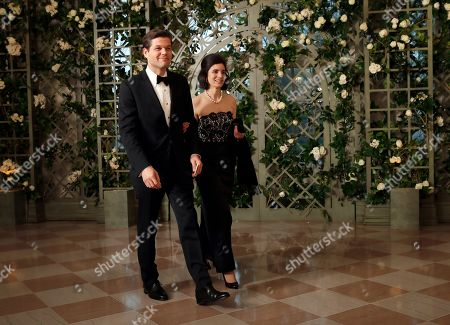 Aaron Wess Mitchell, Elizabeth Mitchell. Aaron Wess Mitchell and Elizabeth Mitchell arrive for a State Dinner with French President Emmanuel Macron and President Donald Trump at the White House, in Washington