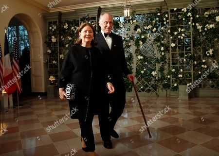 Ronald Lauder, Jo Carole Lauder. Former Ambassador Ronald Lauder, and Jo Carole Lauder arrive for a State Dinner with French President Emmanuel Macron and President Donald Trump at the White House, in Washington