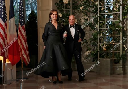Henry Kravis, Marie-Jos'e Kravis. Henry Kravis and Marie-Josée Kravis arrive for a State Dinner with French President Emmanuel Macron and President Donald Trump at the White House, in Washington