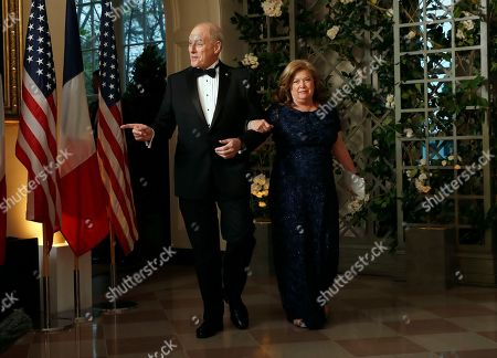 John Kelly, Karen Kelly. White House Chief of Staff John Kelly and his wife Karen Kelly arrive for a State Dinner with French President Emmanuel Macron and President Donald Trump at the White House, in Washington