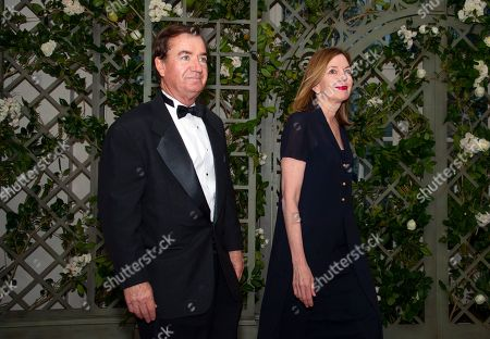 United States Representative Edward Royce (Republican of California) and Mrs. Marie Royce arrives for the State Dinner honoring Dinner honoring President Emmanuel Macron of the French Republic and Mrs. Brigitte Macron at the White House in Washington, DC.