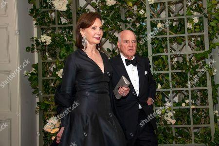 Henry Kravis and Mrs. Marie-Josee Kravis arrive for the State Dinner honoring Dinner honoring President Emmanuel Macron of the French Republic and Mrs. Brigitte Macron at the White House in Washington, DC.