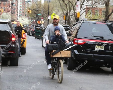 Editorial image of Liev Schreiber out and about, New York, USA - 24 Apr 2018