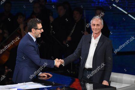 Marco Travaglio and Fabio Fazio