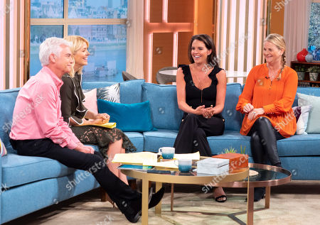 Stock Picture of Phillip Schofield and Holly Willoughby with Danielle Lloyd and Jackie Lloyd