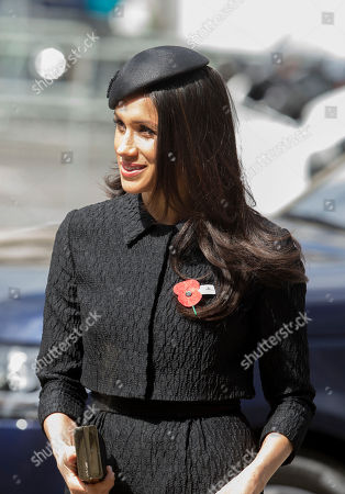 LONDON- UK 25th April 2018: Prince Harry and his fiancé Meghan Markle attend the Anzak day memorial service at Westminster Abbey in London. With Prince William  Photo by Ian Jones