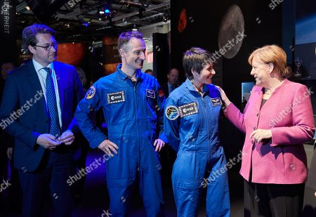 Andreas Scheuer; Matthias Maurer; Samantha Cristoforetti; Angela Merkel