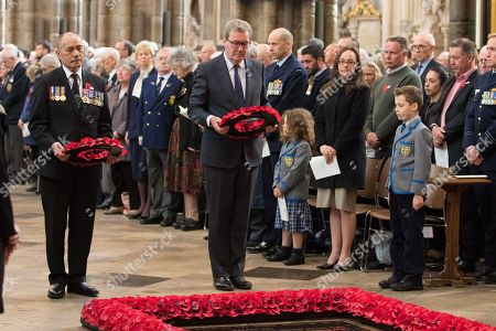 New Zealand High Commissioner Sir Jerry Mateparae and Australian High Commissioner Alexander Downer lay wreaths at the Tomb of the Unknown Warrior.