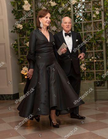 Henry Kravis and Mrs. Marie-Josee Kravis arrive for the State Dinner