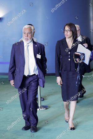 First President of East Timor Xanana Gusmao with Ambassador Sofia Borges