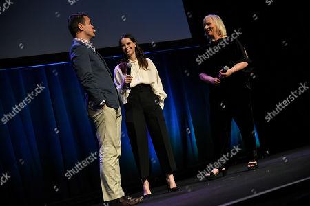 Dave Karger, Felicity Jones and Mimi Leder